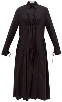 Cecilie Bahnsen Thea Panelled Cotton-poplin Shirt Dress - Womens - Black
