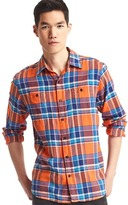 Gap Flannel multi-plaid shirt