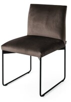 Calligaris Gala Upholstered Dining Chair Upholstery Color: Sand, Frame Color: Chrome