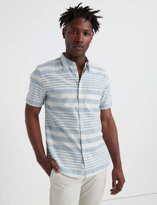 Lucky Brand Slim Fit Striped One Pocket Shirt