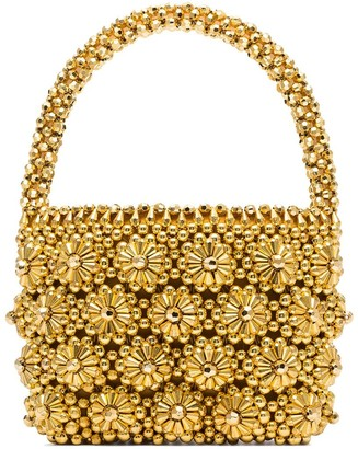 Shrimps Shelly beaded tote bag