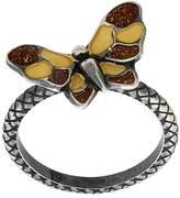 Bottega Veneta butterfly Intrecciato ring