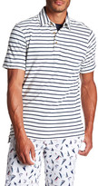 Tailor Vintage Striped Linen Pocket Front Polo
