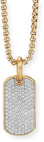 David Yurman Men's 18k Gold Pave Diamond Tag Enhancer