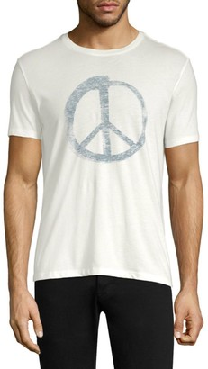 John Varvatos Peace Sign Graphic Tee