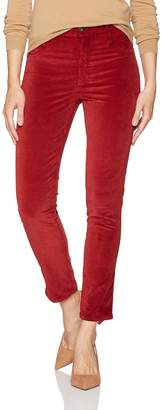 James Jeans Women's High Rise Skinny Ankle Velvet Pant in Clay