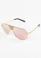 Missy Empire Kimye Gold Aviator Sunglasses