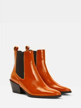 Tommy Hilfiger Patent Heeled Boot