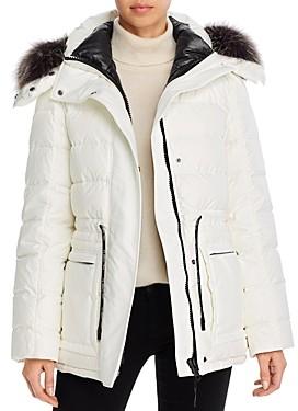 Yves Salomon Doudone Fox Fur Trim 2-in-1 Down Coat
