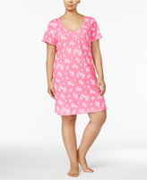 Charter Club Plus Size Printed Cotton Sleepshirt, Only at Macy's