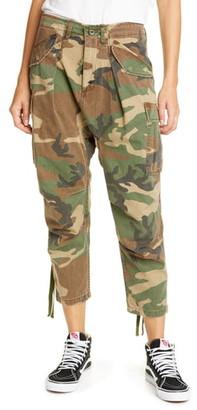 R 13 Camo Crop Cargo Pants