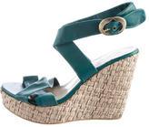 Philosophy di Alberta Ferretti Leather Wedge Sandals