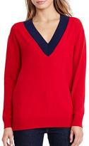 Lauren Ralph Lauren Relaxed V-Neck Sweater