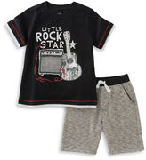 Kids Headquarters Boys 2-7 Two-Piece Printed Tee and Shorts Set