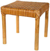 One Kings Lane Vintage 1970s Rattan & Cane Footstool