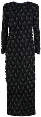 Sandra Mansour Embellished Velvet Midi Dress