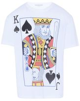 Stella McCartney white playing cards print t-shirt