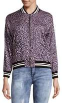 Saks Fifth Avenue RED Leopard Bomber