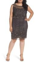 Pisarro Nights Plus Size Women's Embellished Popover Bodice Sheath Dress