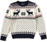 Ralph Lauren Little Boys 2T-7 Christmas Reindeer Wool-Blend Sweater