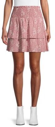 No Boundaries Juniors' Double Tiered Ruffle Skirt