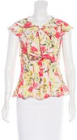 Zac Posen Floral Print Sleeveless Top w/ Tags