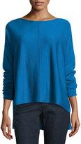 Eileen Fisher Merino Boxy Bateau-Neck Sweater, Plus Size