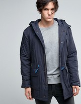 Sisley Wool Parka With Drawstring Hood