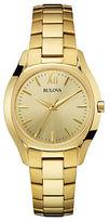 Bulova Slim Duet Goldtone Stainless Steel Watch