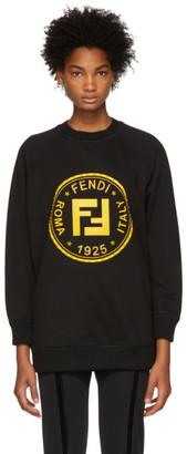 Fendi Black Sequin and Crystal Roma Sweatshirt