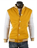 KilleenClark Mens Letterman Jacket with White Snaps APK45