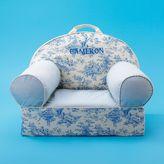 Classic Blue Toile Nod Chair