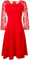 Ermanno Scervino floral lace flared dress - women - Polyester/Spandex/Elastane - 42