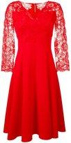 Ermanno Scervino floral lace flared dress - women - Polyester/Spandex/Elastane - 46