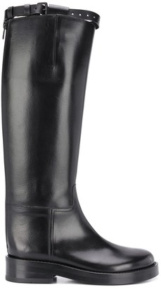 Ann Demeulemeester Buckle Strap Knee-High Boots