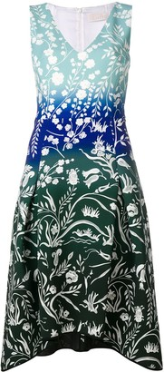 Peter Pilotto Stencil-Effect Printed Dress