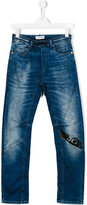 John Galliano Teen distressed jogger jeans - kids - Cotton/Polyester/Spandex/Elastane - 16 yrs
