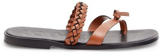 Loewe X Paula'S Ibiza Braided Leather Sandals