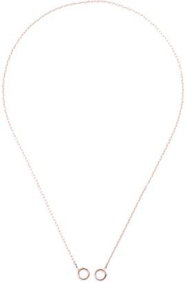 Marla Aaron 2 Loop 14k Rose Gold Square Link Chain