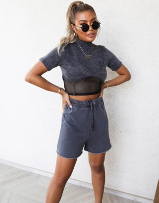 Public Desire x Carms relaxed sweat shorts co-ord