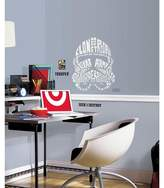 Star Wars RoomMates Typographic Clone Trooper Peel and Stick Giant Wall Decals