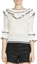 Maje Moreno Tiered-Ruffle Sweater