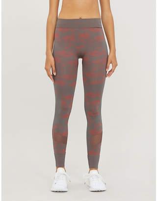 adidas by Stella McCartney Essentials camouflage-print stretch-jersey leggings