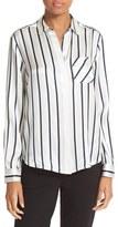 ATM Anthony Thomas Melillo Women's Stripe Silk Shirt