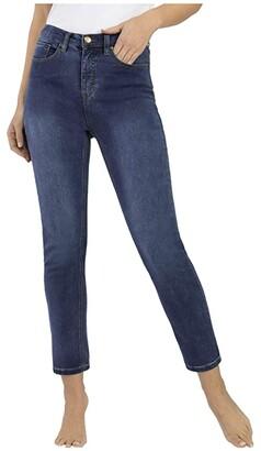 Tribal Five-Pocket High-Rise Slim in Retro Blue (Retro Blue) Women's Jeans