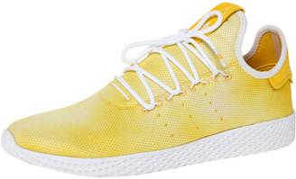adidas Pharrell Williams x Holi Yellow Cotton Knit PW Tennis Hu Sneakers Size 46
