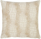 Barneys New York Croc-Stamped Cowhide-Front Pillow