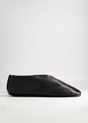 Jil Sander Men's Leather Slipper in Black, Size 41