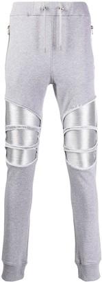 Balmain Metallic Patch Track Pants