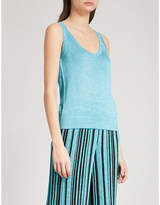 Missoni Metallic-knit sleeveless woven top